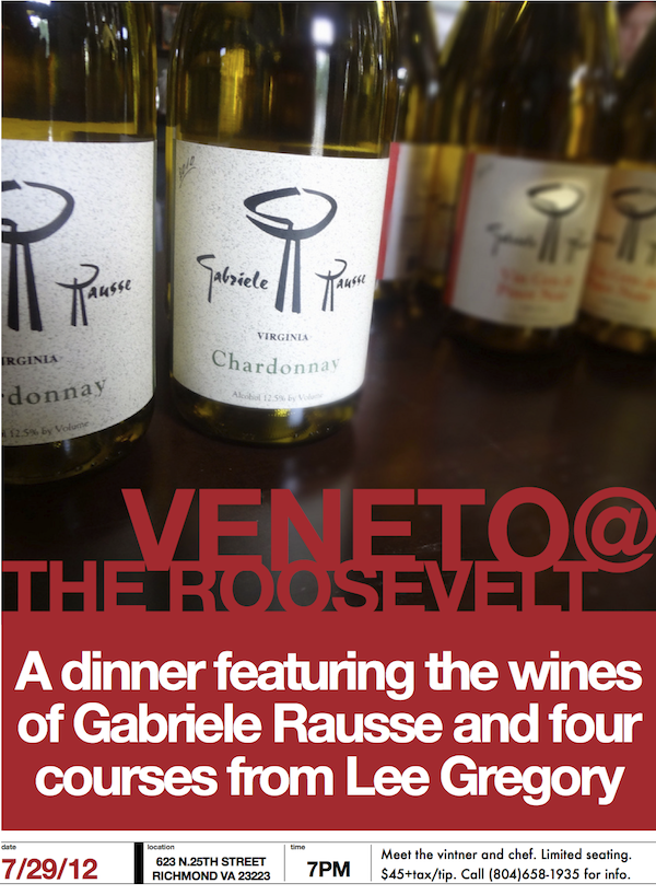 Gabriele Rausse Wine Dinner at The Roosevelt